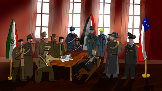 Signing of The Trans-Atlantic Alliance by DesertGuerilla