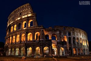 The Colosseum at Night by dealived