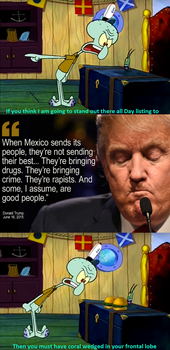 Squidward Can't Stand Donald Trump by EarWaxKid