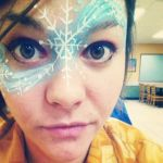 Snowflake Face Paint by Mtkld
