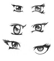 Manga eyes - study by TheFightingGoddess