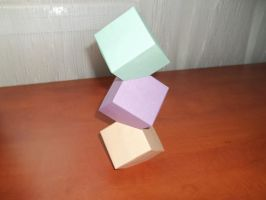 Origami - Cube Tower by KomplexGyok