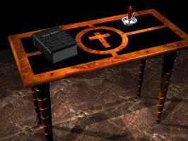 Table with Objects by AskGriff