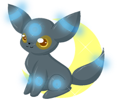 Chibi Umbreon by Blood-Charm