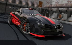 SLR McLaren new paintjob by stefanmarius