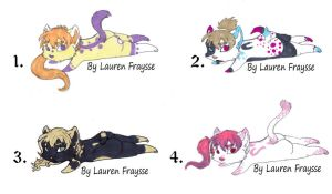 .:Chibi Furry adoptables:. by lfraysse