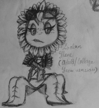 PvZ Heroes-Solar Flare as an adult/collage student by CrystiliaLance