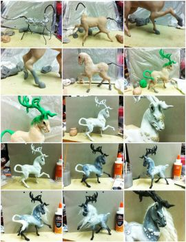 Kirin Sculpture WIP by sodacrush