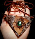 Dragon's Eye Malachite Necklace by Solara Solstice by solarasolstice
