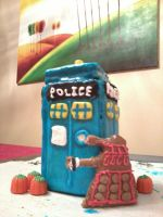 Gingerbread Tardis 2011 by FoxWingDrgn