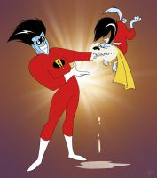 Freakazoid and Foamy by EastCoastCanuck