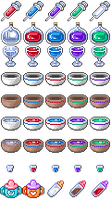 RPGMaker Icon Pack - Partake of Potent Potions by Bunni89