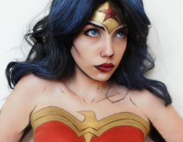 Wonder Woman makeup cosplay by marymakeup