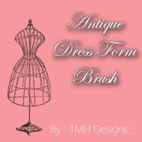Antique Dress Form Brush by frenzymcgee