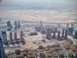 Dubai from highst Tower of the World by ViolettButterfly