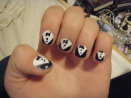 'SUIT UP' Nails by Cartoon-punk