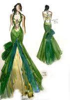 Green swan by esthersutopia
