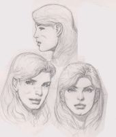 Practicing the female face (w/o. reference) by TomRFoster