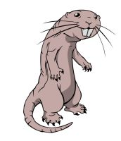 Rufus the Super Mole Rat by Zimonini