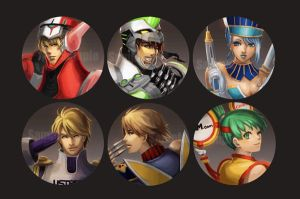 King of heroes badges by Sobachan
