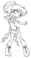 Chibi Sailor Jupiter . lineart by theNekk