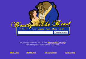 Beauty and the Beast Startpage by AwesomeStart