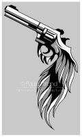 The Winged Revolver by hatefueled
