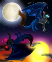 Ultimate good and evil by dragonwolfgirl1234