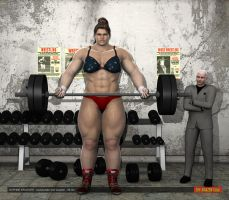 Daphne Krueger - female bodybuilder - 8ft 4in by theamazonclub