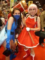 Kitana with Amy Rose by ruggala08