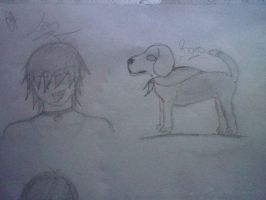 First Sketch Of Ian by GalaxyTsukino