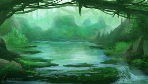 Weekly Environment 03 - Lagoon by Elucidator