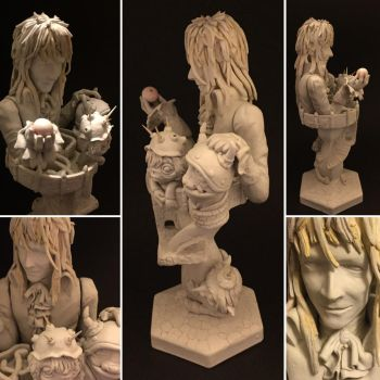 Labyrinth Figure unpainted by vrlovecats