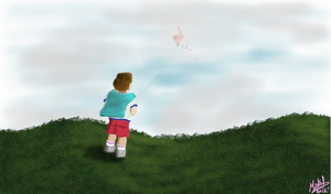 The kid and the Kite by Mstrl