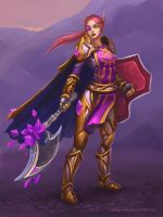 Commission: Blood Elf, Paladin by lowly-owly