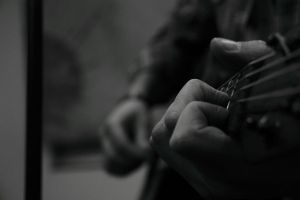 While My Guitar Gently Weeps by skypho