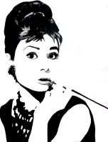 Audrey Hepburn Three by mixtapegoddess