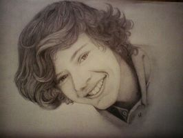 Drawing of Harry Styles from One Direction by Cutie80693