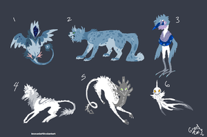 Creature Adopt Sheet 2 [Point Option Added!] by Adopt-Monstar