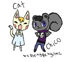 Cat and Chico by fourswords
