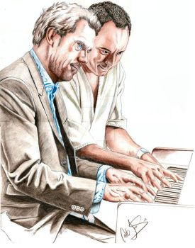 Hugh Laurie and Dave Matthews by urfavoriteartist