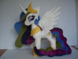 My little pony  Celestia plush by valio99999