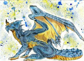 Blue Dragon by Silerenth