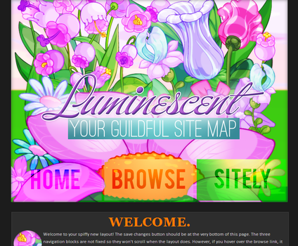 Layout For Luminescent by maddieover