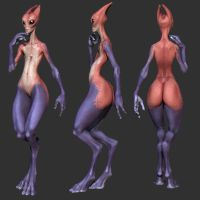 female salarian model by slocik