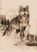 wolf tattoo request by agaricgreywolf