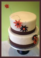 Fall Flowers Cake by Heidilu22