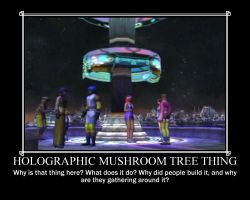 Mushroom Tree Thing Demotivator by AUTODECEPTITRON
