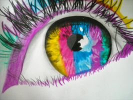 colorful eye by IrishxoxQueen
