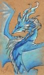 Blue mountain dragoness by AlviaAlcedo
